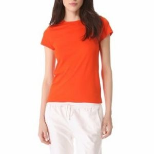 Vince Boy Tee in Persimmon Size Small